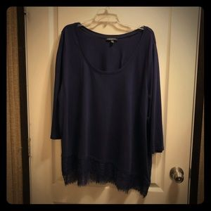 NWOT Lane Bryant Lace Detail Shirt 22/24